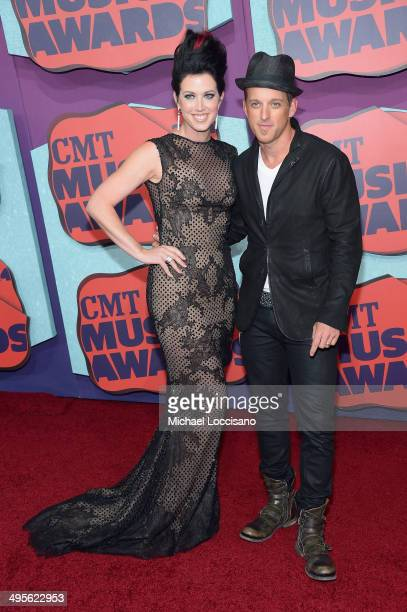 Shawna Thompson and Keifer Thompson of Thompson Square attend the 2014 CMT Music awards at the Bridgestone Arena on June 4 2014 in Nashville Tennessee