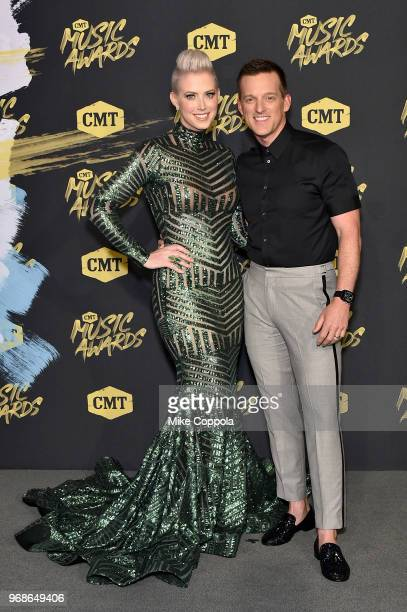 Shawna Thompson and Keifer Thompson of Thompson Square attend the 2018 CMT Music Awards at Bridgestone Arena on June 6 2018 in Nashville Tennessee