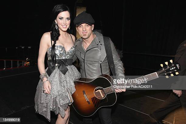 Shawna Thompson and Keifer Thompson of Thompson Square attends the American Country Awards 2011 at the MGM Grand Garden Arena on December 5 2011 in...