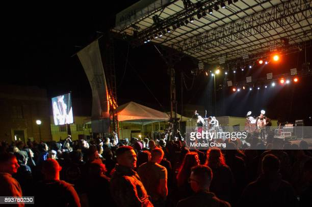 Shawna Thompson and Keifer Thompson of Thompson Square during Base*FEST Powered by USAA on December 15 2017 at Naval Air Station Pensacola Florida