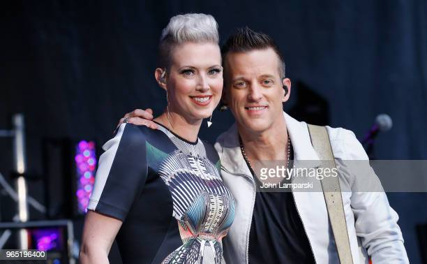 Shawna Thompson and Keifer Thompson of Thompson Square perform on Fox Friends summer concert on June 1 2018 in New York City