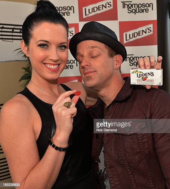 Shawna Thompson and Keifer Thompson who are Thompson Square attend the Luden's and Thompson Square Make Sweet Music Together to Celebrate Voices...