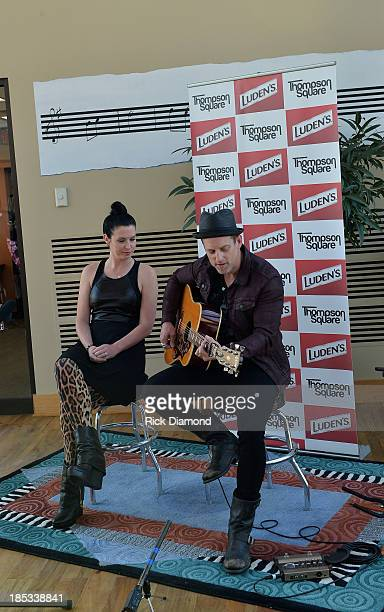 Shawna Thompson and Keifer Thompson who are Thompson Square perform at the Luden's and Thompson Square Make Sweet Music Together to Celebrate Voices...