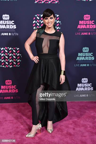 Shawna Thompson from musical duo Thompson Square attends the 2016 CMT Music awards at the Bridgestone Arena on June 8 2016 in Nashville Tennessee