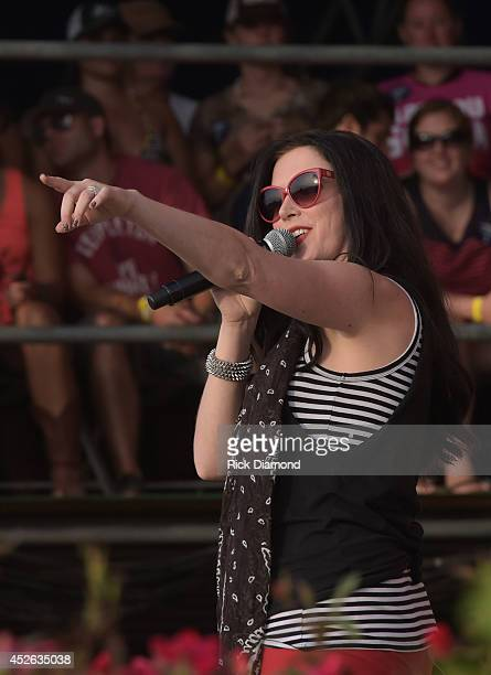 Shawna Thompson of Thompson Square performs at Country Thunder USA Day 1 on July 24 2014 in Twin Lakes Wisconsin