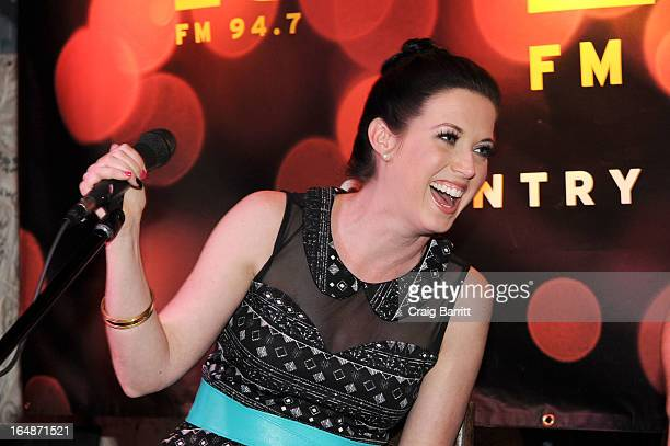 Shawna Thompson of Thompson Square performs at Hill Country Barbecue Market on March 28 2013 in New York City