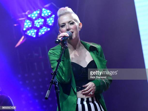 Shawna Thompson of Thompson Square performs at the GLAAD TY HERNDON's 2018 Concert for Love Acceptance at Wildhorse Saloon on June 7 2018 in...