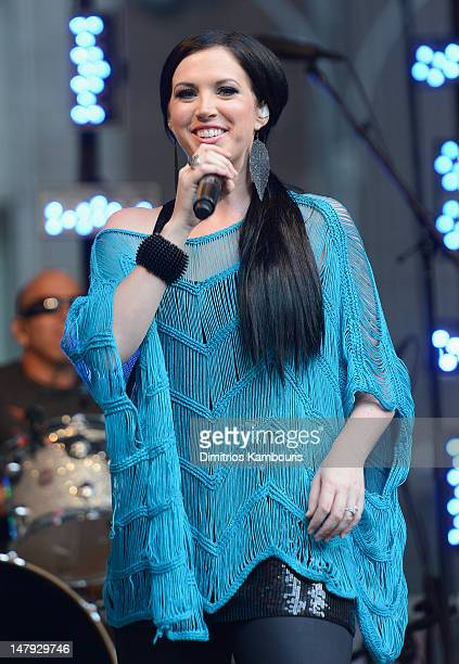 Shawna Thompson of Thompson Square performs during FOX Friends All American Concert Series at FOX Studios on July 6 2012 in New York City