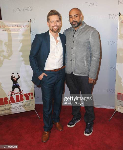 ShawnCaulin Young and Cosmos Kiindarius arrive for the premiere of 'Heart Baby' held at The Ahrya Fine Arts Laemmle Theater on November 23 2018 in...
