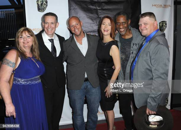 Shawnda Christiansen Kenney Myers Colin Bird Anna Easteden Tim Russ and Jason F Knittle arrive for the Los Angeles Premiere of 'Miles To Go' held at...