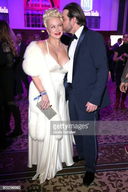Shawne Fielding and her boyfriend Patrick Schoepf during the Movie Meets Media MMM event on the occasion of the 68th Berlinale International Film...