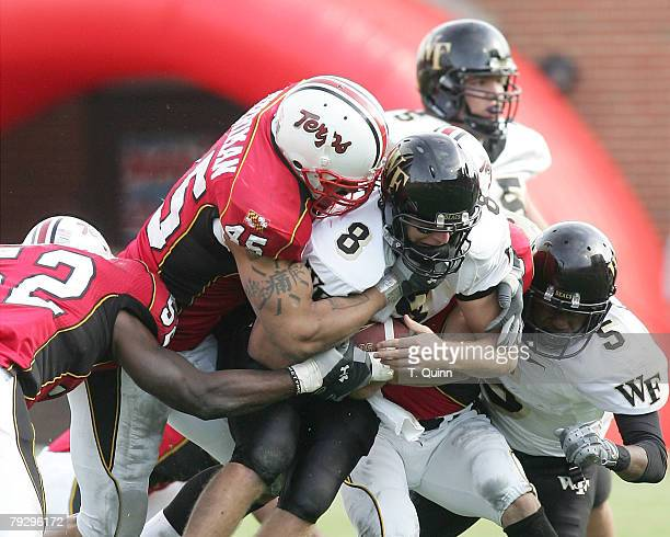 Shawne Merriman of the University of Maryland during a game against Wake Forest