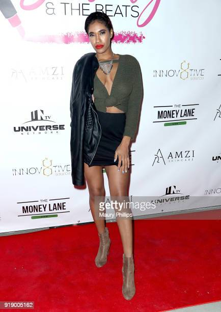 Shawnte attends the 2018 Beauty The Beats Celebrity Party and Panel Discussion at Dream Magic Studios on February 15 2018 in Canoga Park California