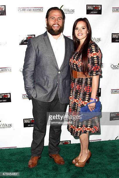 Shay Carl and Colette Carl attend the USIreland alliance preAcademy Awards event held at Bad Robot on February 27 2014 in Santa Monica California