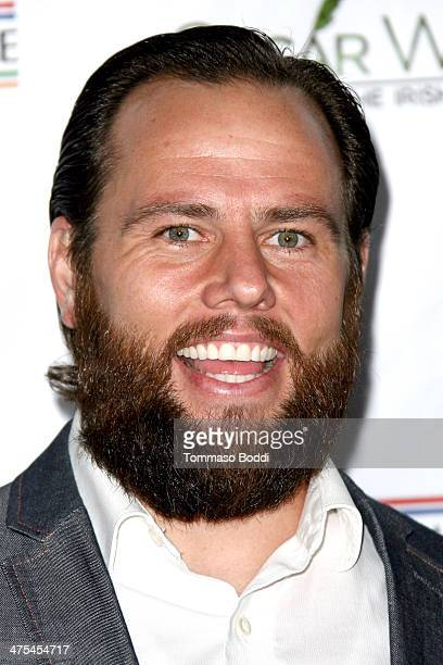 Shay Carl attends the USIreland alliance preAcademy Awards event held at Bad Robot on February 27 2014 in Santa Monica California