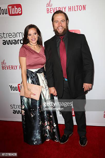 Shay Carl of SHAYTARDS and guest arrive at the 2016 Streamy Awards at The Beverly Hilton Hotel on October 4 2016 in Beverly Hills California