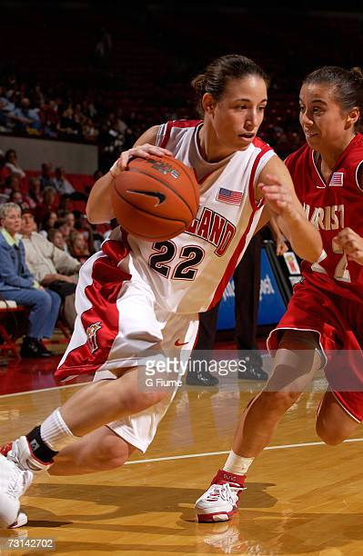 Shay Doron of the Maryland Terrapins drives to the hoop against Marist Red Foxes December 30 2006 at Comcast Center in College Park Maryland