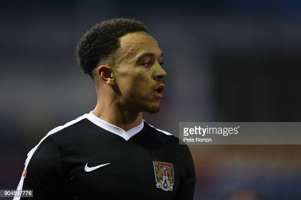Shay Facey of Northampton Town in action during the Sky Bet League One match between Bradford City and Northampton Town at Northern Commercials...