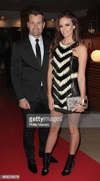 Shay Given and Becky Gibson attend the Pride of Ireland awards at Hilton Doubletree Dublin on September 12 2016 in Dublin Ireland