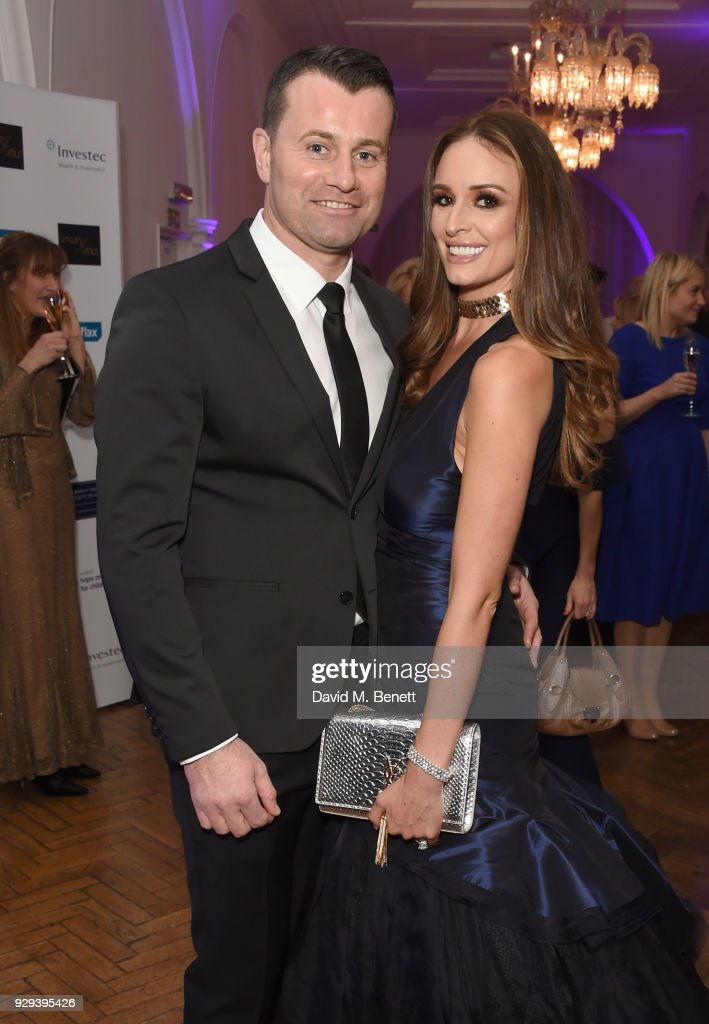 Shay Given and Rebecca Gibson attends the Hope and Homes for Children 'Once Upon A Time Ball' at One Marylebone on March 8, 2018 in London, England.