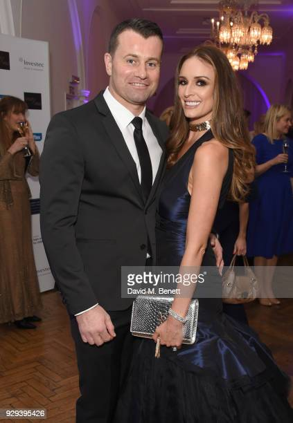 Shay Given and Rebecca Gibson attends the Hope and Homes for Children 'Once Upon A Time Ball' at One Marylebone on March 8 2018 in London England