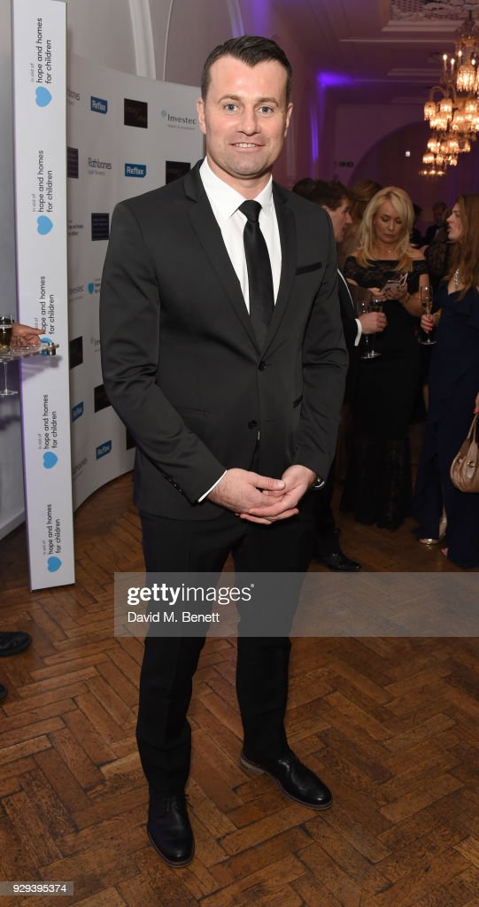 Shay Given attends the Hope and Homes for Children 'Once Upon A Time Ball' at One Marylebone on March 8, 2018 in London, England.