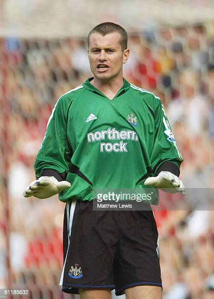 Shay Given of Newcastle United in action during the Barclays Premiership match between Middlesbrough and Newcastle United at the Riverside Stadium on...