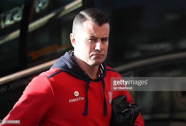 Shay Given of Stoke City arrives prior to the Premier League match between Sunderland and Stoke City at Stadium of Light on January 14 2017 in...