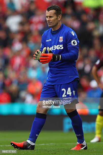 Shay Given of Stoke City during the Premier League match between Stoke City and Manchester City at the Bet365 Stadium on August 20 2016 in Stoke on...
