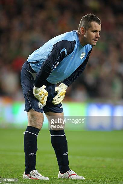 Shay Given of the Republic of Ireland during the FIFA 2010 World Cup European Qualifying match between the Republic of Ireland and Italy at Croke...