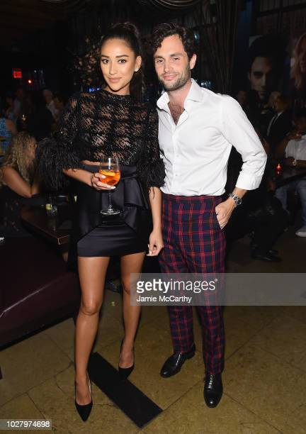 Shay Mitchell and Penn Badgley attend the You Series Premiere Celebration hosted by Lifetime on September 6 2018 in New York City