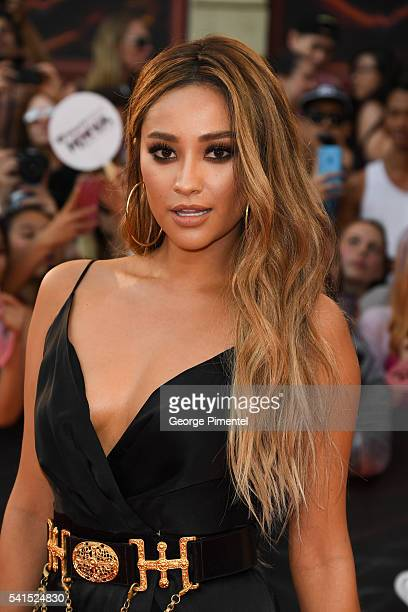 Shay Mitchell arrives at the 2016 iHeartRADIO MuchMusic Video Awards at MuchMusic HQ on June 19th 2016 in Toronto Canada