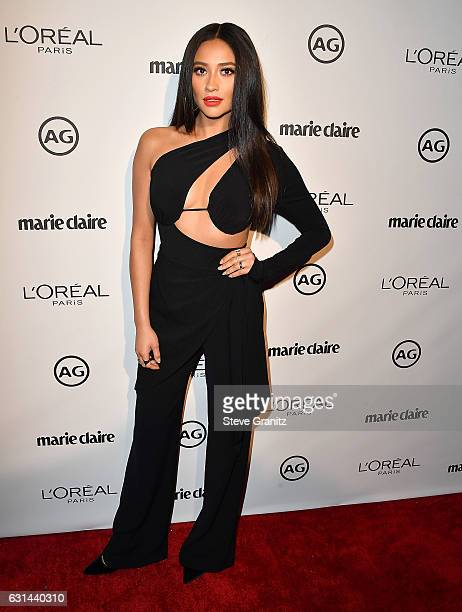 Shay Mitchell arrives at the Marie Claire's Image Maker Awards 2017 on January 10 2017 in West Hollywood California