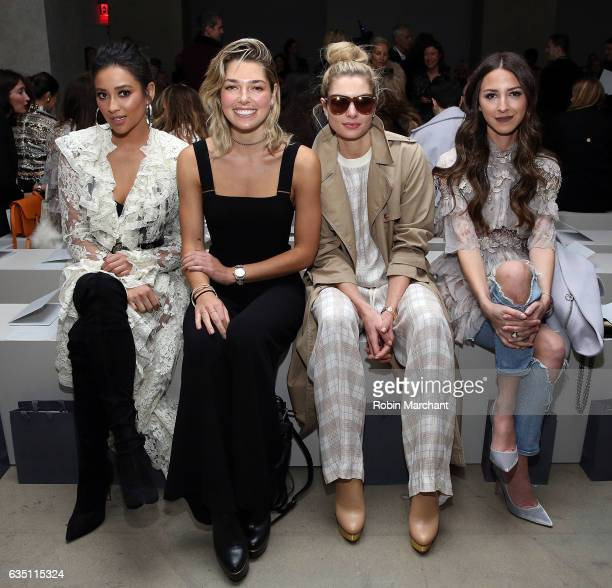 Shay Mitchell Ashely Hart Jessica Hart and Arielle Noa Charnas attend Zimmermann during New York Fashion Week on February 13 2017 in New York City