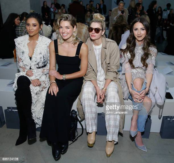 Shay Mitchell Ashely Hart Jessica Hart and Arielle Noa Charnas attend Zimmermann fashion show on February 2017 New York Fashion Week on February 13...