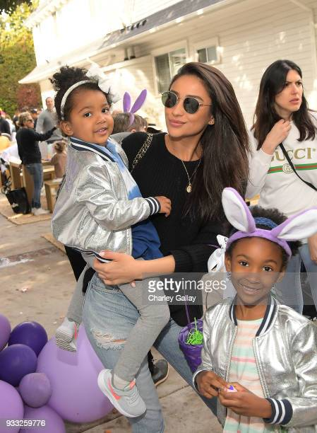 Shay Mitchell attends AKID Brand's 3rd Annual 'The Egg Hunt' at Lombardi House on March 17 2018 in Los Angeles California