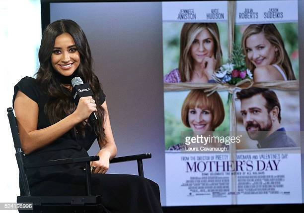 Shay Mitchell attends AOL Build Speaker Series to discuss Mother's Day at AOL Studios In New York on April 25 2016 in New York City