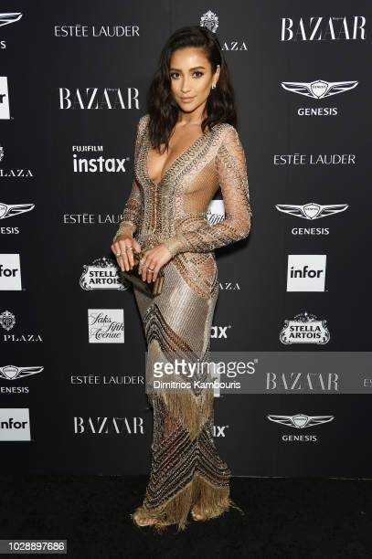 Shay Mitchell attends as Harper's BAZAAR Celebrates ICONS By Carine Roitfeld at the Plaza Hotel on September 7 2018 in New York City