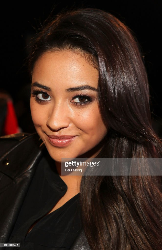 Shay Mitchell attends DKNY Women's during Fall 2013 Mercedes-Benz Fashion Week on February 10, 2013 in New York City.