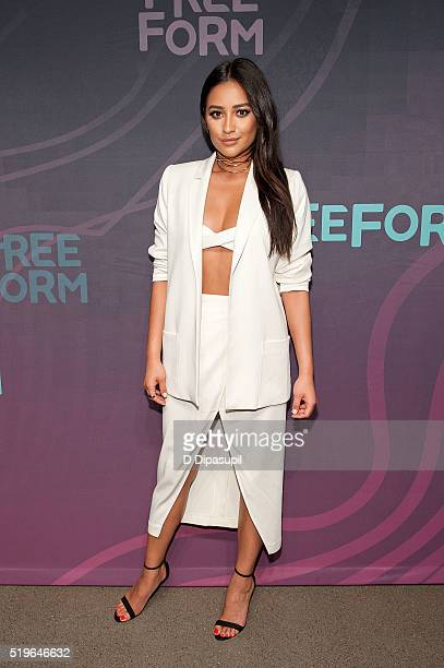 Shay Mitchell attends the 2016 ABC Freeform Upfront at Spring Studios on April 7, 2016 in New York City.