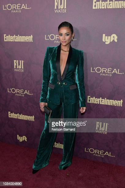 Shay Mitchell attends the 2018 PreEmmy Party hosted by Entertainment Weekly and L'Oreal Paris at Sunset Tower on September 15 2018 in Los Angeles...