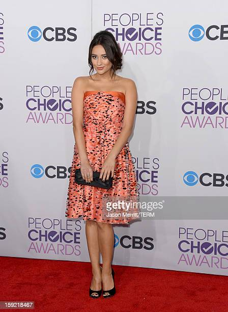 Shay Mitchell attends the 39th Annual People's Choice Awards at Nokia Theatre LA Live on January 9 2013 in Los Angeles California