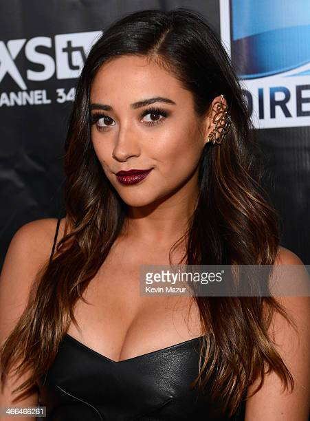 Shay Mitchell attends the DirecTV Super Saturday Night at Pier 40 on February 1 2014 in New York City