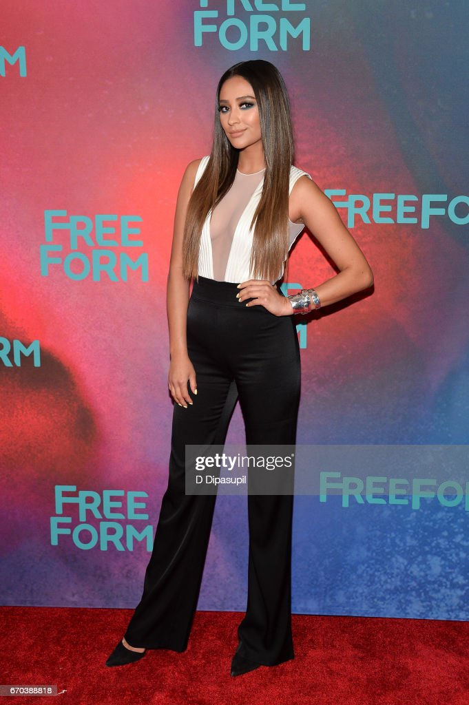 Shay Mitchell attends the Freeform 2017 Upfront at Hudson Mercantile on April 19, 2017 in New York City.