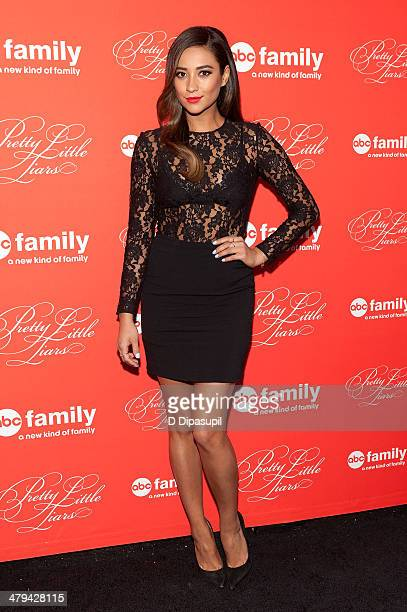 Shay Mitchell attends the 'Pretty Little Liars' season finale screening at Ziegfeld Theater on March 18 2014 in New York City
