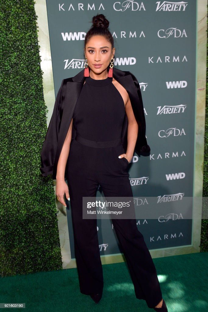 Shay Mitchell attends the Runway To Red Carpet, hosted by Council of Fashion Designers of America, Variety and WWD at Chateau Marmont on February 20, 2018 in Los Angeles, California.
