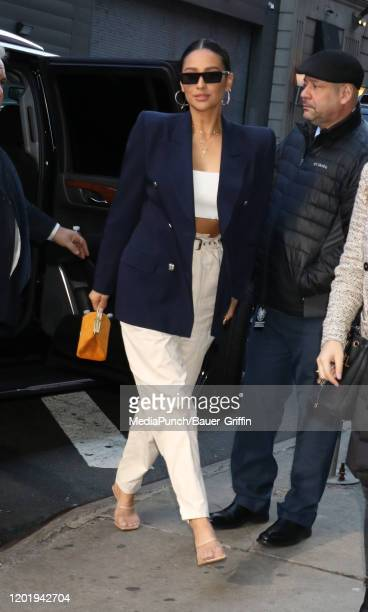 Shay Mitchell is seen on February 19, 2020 in New York City.