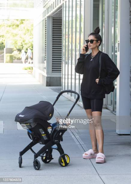 Shay Mitchell is seen walking on July 29 2020 in Vancouver Canada