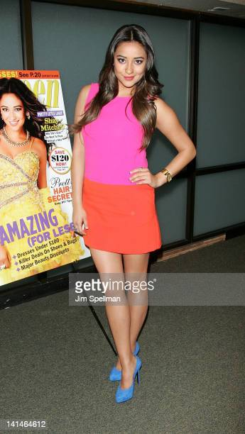 Shay Mitchell promotes her Seventeen Magazine Prom Issue cover at Barnes Noble on March 16 2012 in Paramus New Jersey