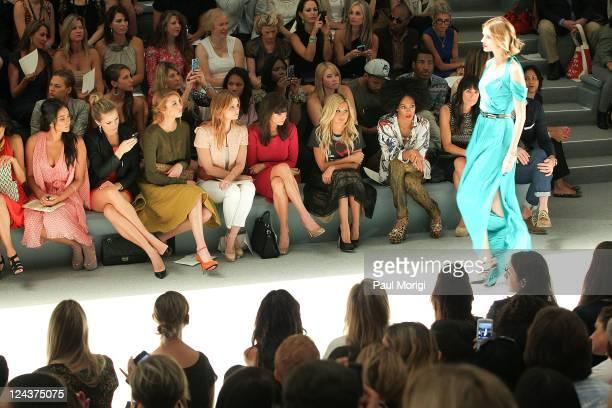 Shay Mitchell Shantel VanSanten Whitney Port Joanna Garcia JamieLynn Sigler Ashley Tisdale and Solange Knowles the Luca Luca Spring 2012 fashion show...